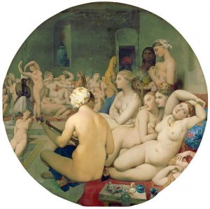 The Turkish Bath by Ingres (Louvre, Paris) Image PD-ART taken from entry in Wikipedia
