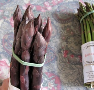 Purple Asparagus tips