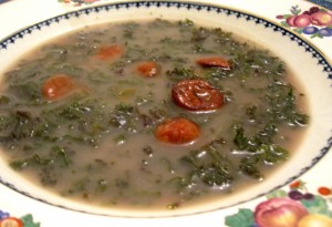 Caldo Verde, the finished soup